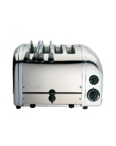 This is an image of a Dualit Stainless 2+2 Combi Toaster