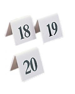 This is an image of a Table Number Sign BlackWhite - Set 31-40