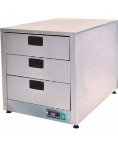 This is an image of a Moffat Digital Controlled Heated Drawers 3 x 11 - Fan Assisted GHD3