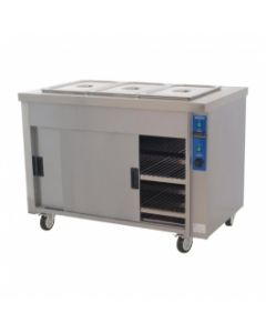 This is an image of a Moffat Heavy Duty St Steel Eco Hot Cupboard with Bain Marie 3 x 11 (Direct) hb3e