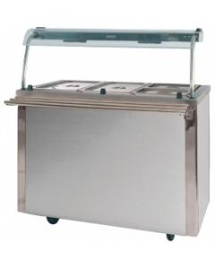 This is an image of a Moffat Versicarte Plus Hot Cupboard and Bain Marie Top Gantry Tray Rail vcbm3