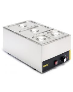 This is an image of a Buffalo Bain Marie without Tap with Pans 2x13 and 2x16 Pans 150mm Deep Inc Lids