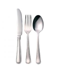 This is an image of a Bead Cutlery Sample Set 180 (Table Knife Table Fork Dessert Spoon)