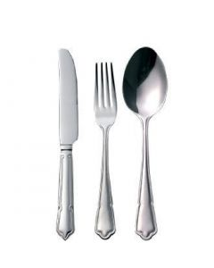 This is an image of a Dubarry Cutlery Sample Set 180 (Table Knife Table Fork Dessert Spoon)