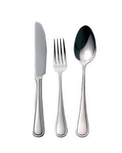 This is an image of a Mayfair Cutlery Sample Set 180 (Table Knife Table Fork Dessert Spoon)