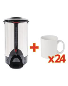 This is an image of a Sale Offer  Caterlite Water Boiler J722 with Free Athena Mugs CC203 (Box 24)
