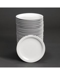 """This is an image of a Bulk Buy - Athena Hotelware Narrow Rimmed Plate - 254mm 10"""" (Box 36)"""