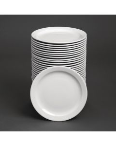 """This is an image of a Bulk Buy - Athena Hotelware Narrow Rimmed Plate - 284mm 11"""" (Box 36)"""