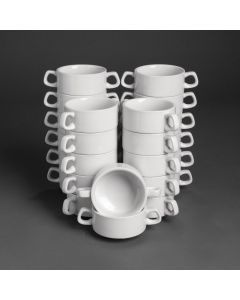 This is an image of a Bulk Buy - Athena Hotelware Stacking Soup Bowl - 290ml 10oz (Box 24)