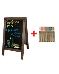This is an image of a Sale Offer  Olympia Pavement Board Small and Free set of Pens