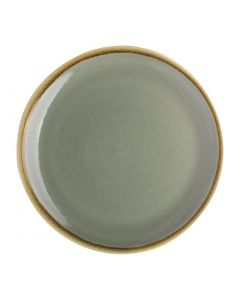 "This is an image of a Olympia Kiln Moss Coupe Plate - 228mm 9"" (Box 6)"