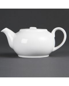 This is an image of a Olympia Whiteware Teapot - 2cup 15oz (Box 12)