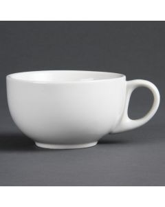 This is an image of a Olympia Whiteware Cappuccino Cup - 10oz (Box 36)