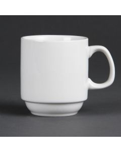 This is an image of a Olympia Whiteware Stacking Mug - 10oz (Box 36)