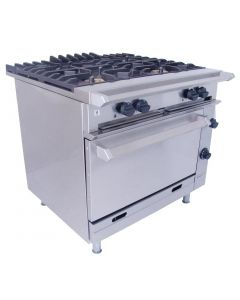 This is an image of a Falcon Chieftain 4 Burner Propane Gas Oven Range G1006X-LPG