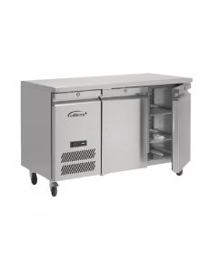 This is an image of a Williams Jade 2 Door 374Ltr Counter Meat Fridge MJC2-SA