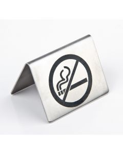 This is an image of a No Smoking Table Sign StSt