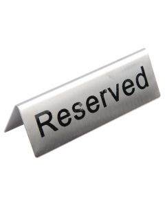 This is an image of a Reserved Table Signs StSt (Pack 10)