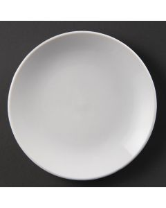 "This is an image of a Olympia Whiteware Coupe Plate - 150mm 6"" (Box 12)"