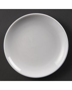 "This is an image of a Olympia Whiteware Coupe Plate - 18cm 7"" (Box 12)"
