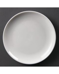 "This is an image of a Olympia Whiteware Coupe Plate - 20cm 8"" (Box 12)"