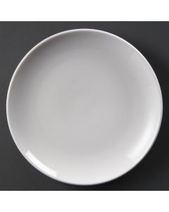"This is an image of a Olympia Whiteware Coupe Plate - 23cm 9"" (Box 12)"