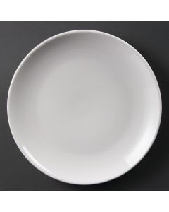 "This is an image of a Olympia Whiteware Coupe Plate - 25cm 10"" (Box 12)"