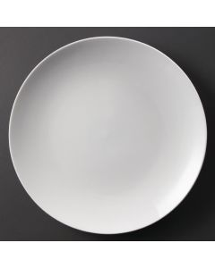"This is an image of a Olympia Whiteware Coupe Plate - 310mm 12"" (Box 6)"