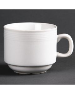 This is an image of a Olympia Linear Stacking Tea Cup - 7oz (Box 12)