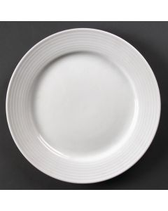 """This is an image of a Olympia Linear Wide Rimmed Plate - 25cm 10"""" (Box 12)"""