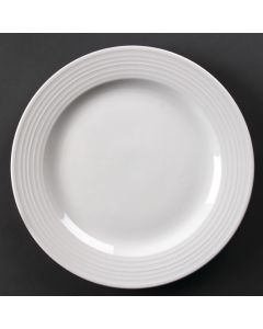 """This is an image of a Olympia Linear Wide Rimmed Plate - 310mm 12"""" (Box 6)"""