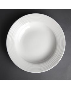"""This is an image of a Olympia Linear Pasta Plate - 23cm 9"""" (Box 12)"""