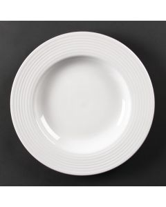 """This is an image of a Olympia Linear Pasta Plate - 31cm 12"""" (Box 6)"""
