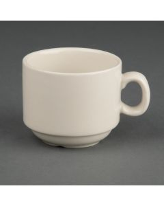 This is an image of a Olympia Ivory Espresso Stacking Coffee Cup 3oz (Box 12)