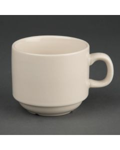 This is an image of a Olympia Ivory Stacking TeaCoffee Cup - 7 12oz (Box 12)