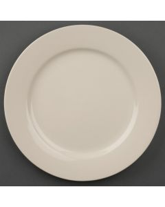 """This is an image of a Olympia Ivory Wide Rimmed Plate - 230mm 9"""" (Box 12)"""