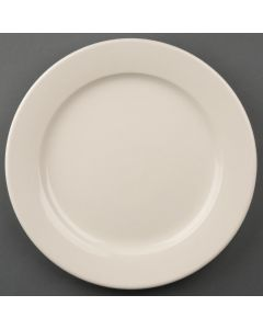 """This is an image of a Olympia Ivory Wide Rimmed Plate - 250mm 10"""" (Box 12)"""