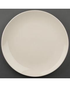 "This is an image of a Olympia Ivory Round Coupe Plate - 310mm 12"" (Box 6)"