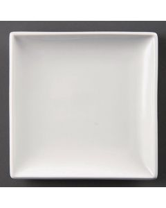 "This is an image of a Olympia Whiteware Square Plate - 295cm 11 12"" (Box 6)"