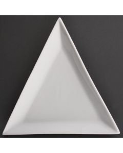 "This is an image of a Olympia Whiteware Triangle Plate - 18cm 7"" (Box 12)"