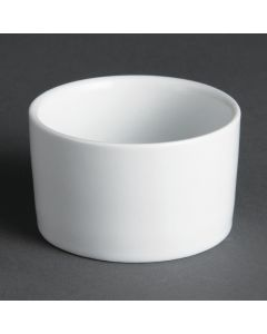 "This is an image of a Olympia Whiteware Contemporary Ramekin - 80ml 28oz 70mm 2 34"" (Box 12)"