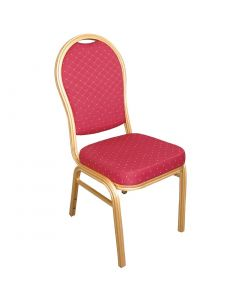 This is an image of a Bolero Aluminium Arched Back Banquet Chairs Red (Pack of 4)