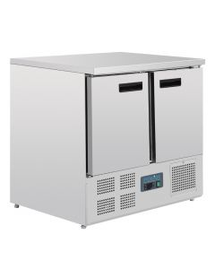This is an image of a Polar 2 Door Compact Counter Fridge 240Ltr