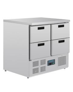 This is an image of a Polar 4 Drawer Compact Counter Fridge 240 Ltr