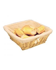 This is an image of a Wicker Basket with Removable Cloth Square - 100x230x230mm