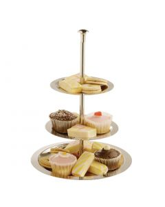 This is an image of a Display Tray 3 Tier StSt - 170x200x280x355mm