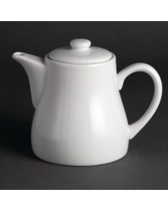 This is an image of a Olympia Whiteware Tea Pot - 28oz (Box 4)