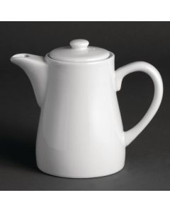 This is an image of a Olympia Whiteware TeaCoffee Pot - 11oz (Box 4)