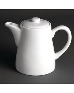 This is an image of a Olympia Whiteware TeaCoffee Pot - 710ml 25oz (Box 4)