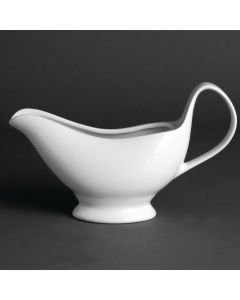 This is an image of a Olympia Whiteware Gravy Boat - 340ml 12oz (Box 6)